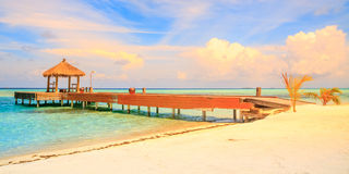 Over water bungalows Stock Images