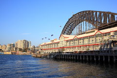 Over-water hotel in The Rocks, Sydney. The over-water hotel Sebel in The Rocks, Australia. A blending heritage with contemporary chic at the Harbour Bridge on an Stock Photography