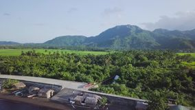 Distant Mountain and Volcano stock footage