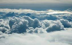 Over wolken Royalty-vrije Stock Afbeeldingen