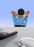Over worked office worker Stock Photography