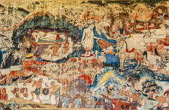 Over 300 year old mural paintings in Thailand. Royalty Free Stock Image