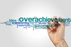 Overachievement word cloud Stock Photo
