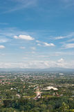 Overall aerial view of town. Chiangmai Thailand Stock Photography