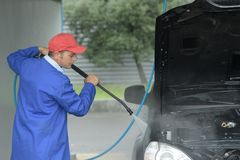 Overall cleaning car Stock Photos
