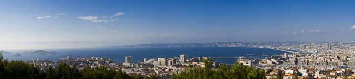 Overall panorama view of marseille, France Stock Photos