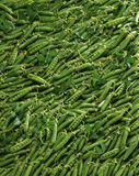 Overall of peas Stock Photo