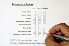 Overall Performance Rating 3 Royalty Free Stock Image