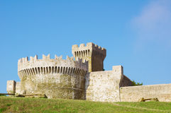 Overall View of the Fortress of Populonia Stock Photography
