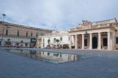 Overall view of the Freedom Square in valletta , malta Stock Photography