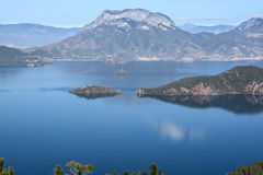 The overall view of Lugu lake Royalty Free Stock Photography