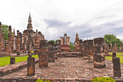 Overall of wat mahatat in sukhothai. Historic park Thailand Royalty Free Stock Image