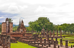 Overall of wat Mahatat in sukhothai from top Stock Images