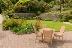 Overbecks Edwardian house gardens in Salcombe Devon England UK a tourist attraction Royalty Free Stock Photos