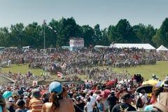 Overbevolkt lettende op Ridders Stock Foto's