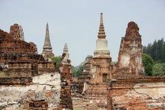 Overblijfsel van Ayutthaya stock foto