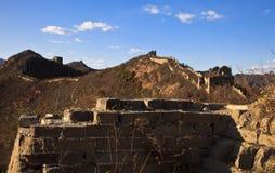 Overblijfsel van de Grote Muur Stock Afbeelding