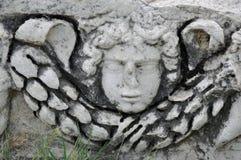 Overblijfsel van Hierapolis-Theater, de Oude Stad van Hierapolis, Pamukkale, stock afbeelding