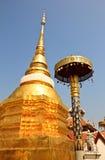 Overblijfsel in Wat Pong Sanook in Lampang Thailand Stock Afbeeldingen