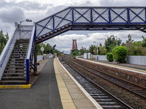 Overbridge at the train station Royalty Free Stock Photography