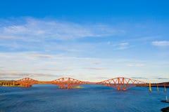 Overbrug vooruit, Unesco-de brug van de de plaatsspoorweg van de werelderfenis, in de 19de eeuw wordt gebouwd, in Edinburgh, Scho royalty-vrije stock afbeelding