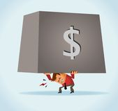 Overburdened of debt. Very Neat Vector illustration Royalty Free Stock Photos