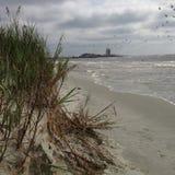 Overcast на океане стоковое изображение