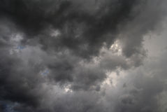 Overcast. Dark sky announcing a storm Royalty Free Stock Images