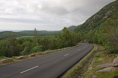 Overcast Acadia Park Road Stock Photography