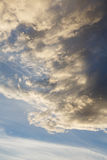 Overcast. Anticyclone. Weather forecast. Cumulus clouds against a blue sky. Overcast. Anticyclone. Weather forecast royalty free stock photography