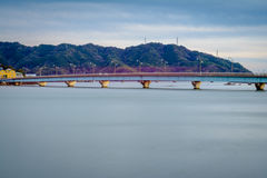Overcast Bridge Stock Images
