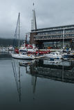 An overcast day in Tromos harbour, Norway Stock Images
