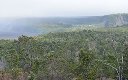 Overcast day in Volcanoes National Park, Big Island of Hawaii. USA Royalty Free Stock Images