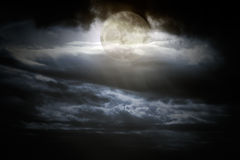 Overcast full moon night Royalty Free Stock Image