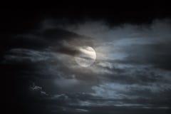 Overcast full moon night Stock Photography