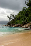Overcast Island. Clouds coming in over the island Royalty Free Stock Photo