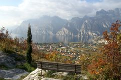 Overcast Lake Garda stock image