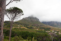 Overcast mountains in South Africa Stock Images