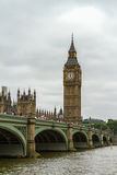 Overcast over British Parliament Stock Photography