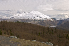 Overcast skies over mt. St. Helen's landscape. Stock Images