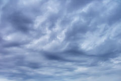 Overcast sky. With dark clouds Stock Images