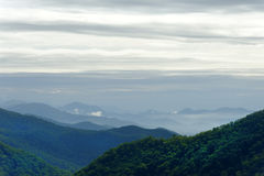 Overcast Sky Above Blue Ridge Mountains Royalty Free Stock Image