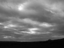 Overcast Sky Black and White moody and chill Royalty Free Stock Photos