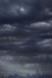 Overcast sky and city background Royalty Free Stock Photography