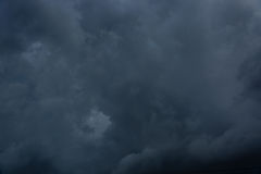 Overcast sky with dark clouds Royalty Free Stock Photos