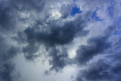 Overcast sky with dark clouds Royalty Free Stock Image