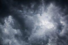 Overcast sky. Dark storm clouds stock photos