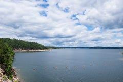 Overcast Sky over Broken Bow Lake Royalty Free Stock Image