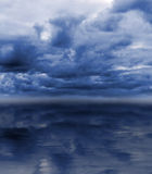 Overcast sky over sea Royalty Free Stock Images