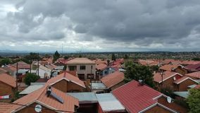 Reveal of township in Pretoria after the rain stock video